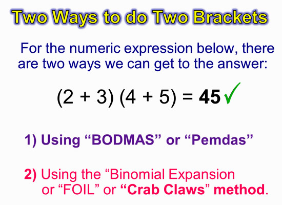 Expanding Two Bracket Binomials 4