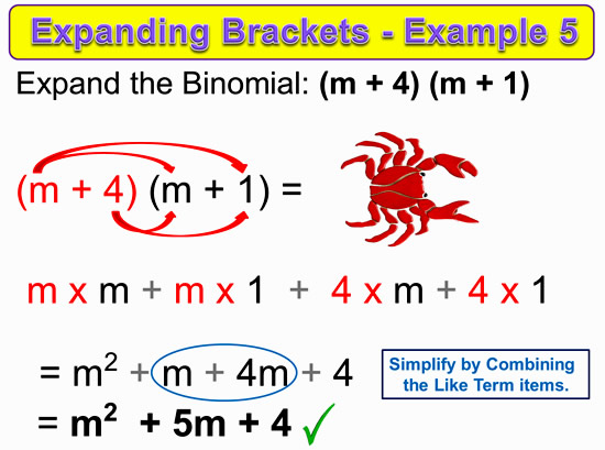 Expanding Two Bracket Binomials 14