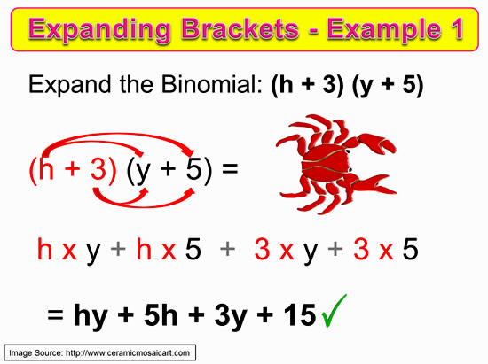 Expanding Two Bracket Binomials 9