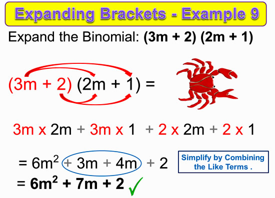 Expanding Two Bracket Binomials 18