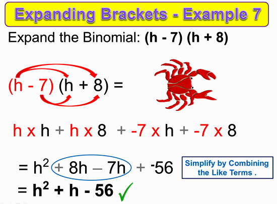 Expanding Two Bracket Binomials 16