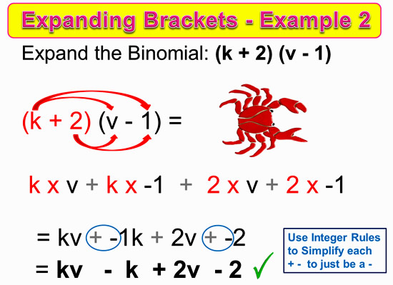 Expanding Two Bracket Binomials 10