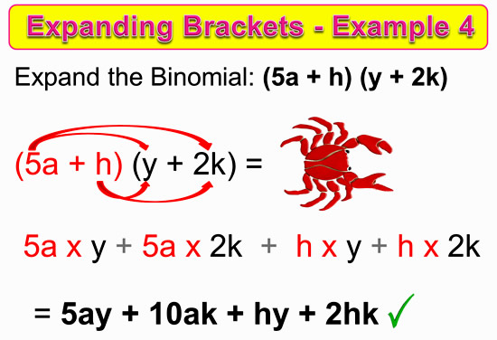 Expanding Two Bracket Binomials 12
