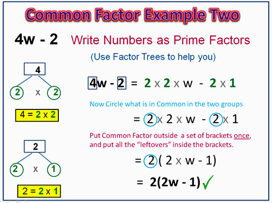 Factorising Greatest Common Factor 8