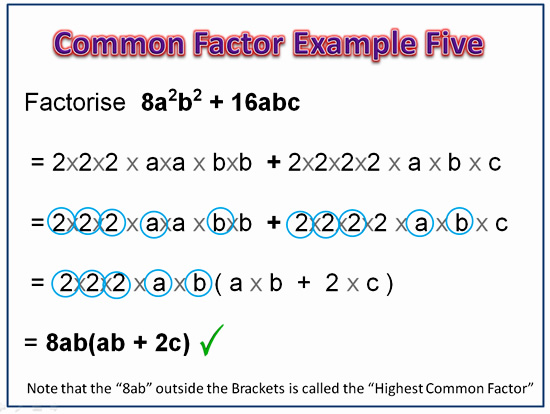 Factorising Greatest Common Factor 11