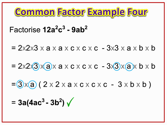 Factorising Greatest Common Factor 10