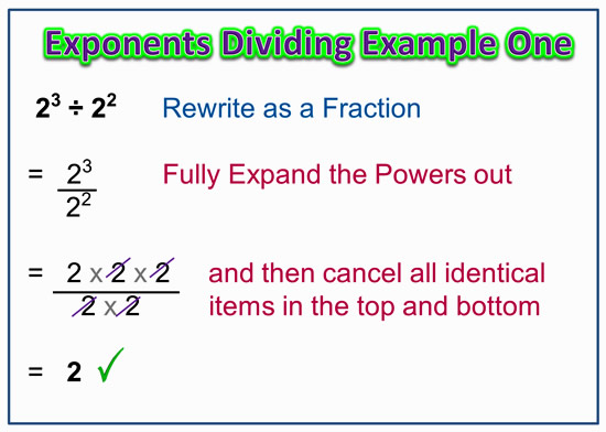 Dividing Exponent Powers Quotient Rule