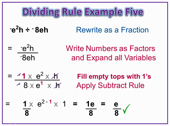 Dividing Exponents Example 5