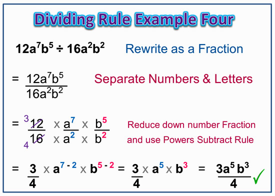 Dividing Exponents Example Four