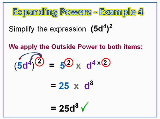 Expanding Exponent Products 8