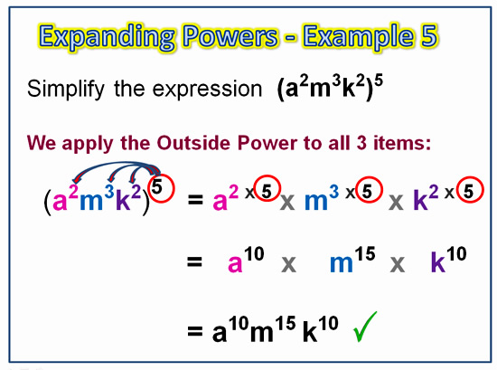 Expanding Exponent Products 9