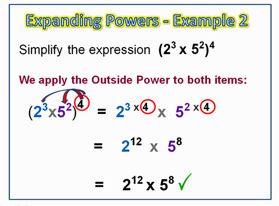 Expanding Exponent Products 6