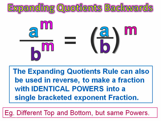 Expanding Exponent Quotients 8