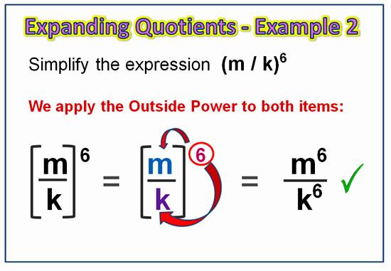 Expanding Exponent Quotients 5