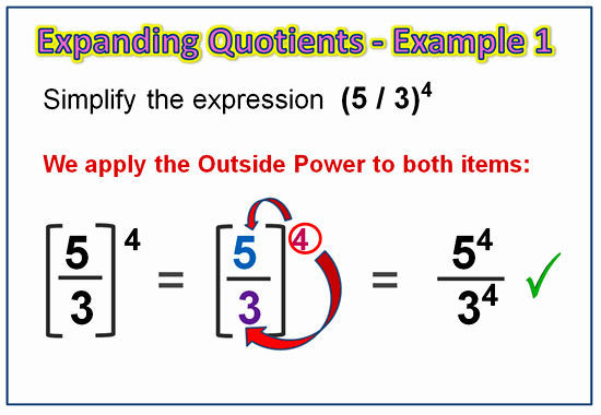 Expanding Exponent Quotients 4