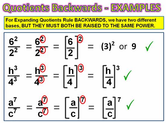Expanding Exponent Quotients 9