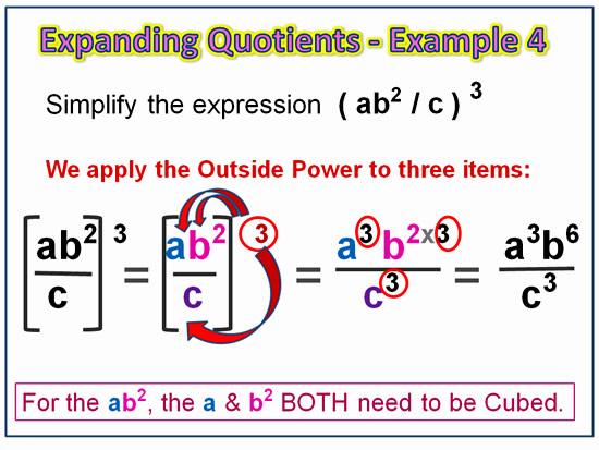Expanding Exponent Quotients 7