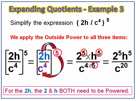 Expanding Exponent Quotients 6