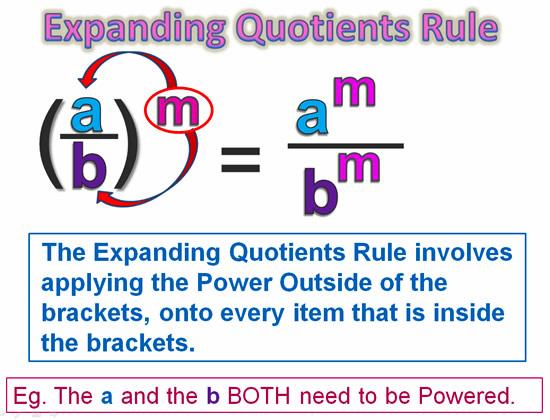 Expanding Exponent Quotients 3