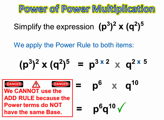 Exponents Power Rule 11
