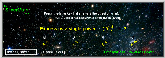 Power of Power Exponents Game