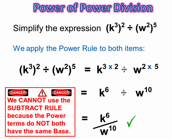 Exponents Power Rule 14