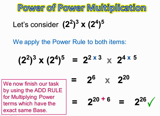 Exponents Power Rule 9