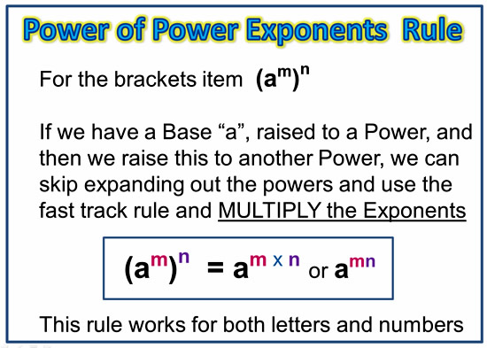 Exponents Power Rule 6