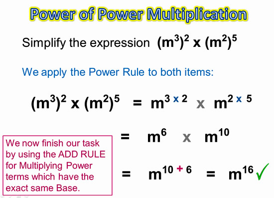Exponents Power Rule 10