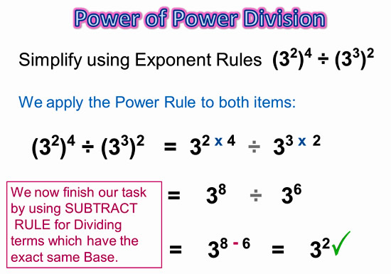 Exponents Power Rule 12