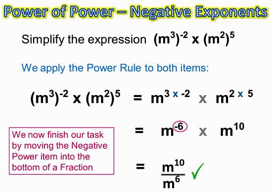 Negative Exponents 6