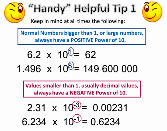 How to write math problems in scientific notation