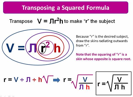 Rearranging Formulas 6