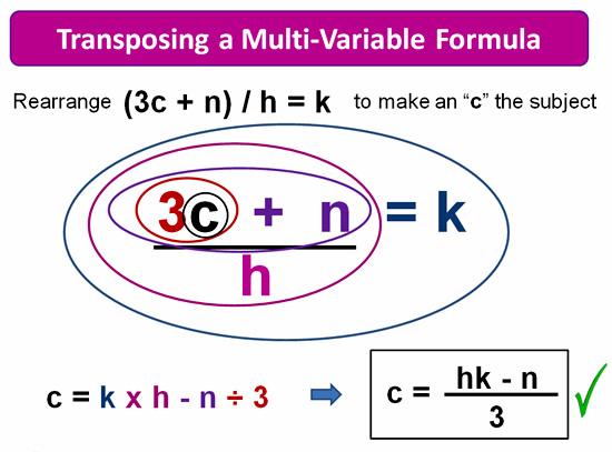 Rearranging Formulas 10
