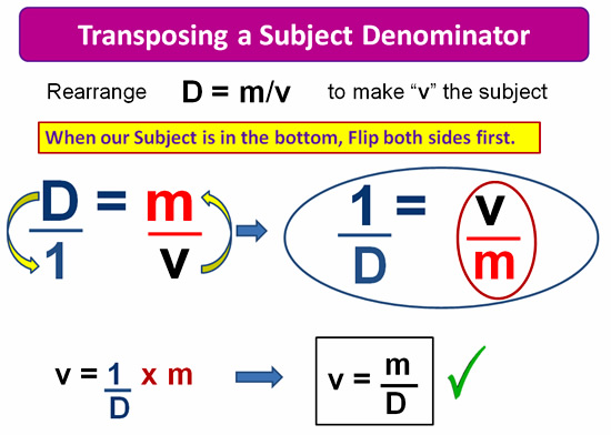 Rearranging Formulas 12