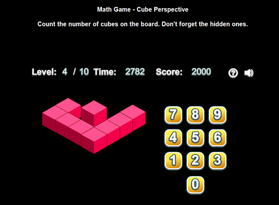 Isometric Cubes Counting Game
