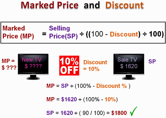Marked Price Calculation Three