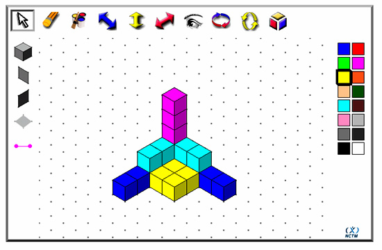Isometric drawing and 3d cubes passy 39 s world of mathematics for Online graph paper design tool