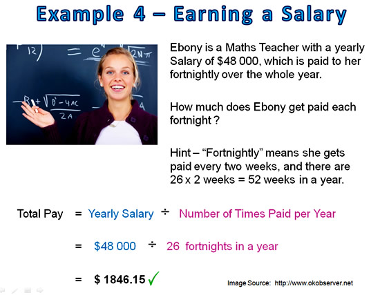 Earning Money Math 4