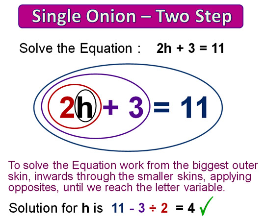 Onion Skin Solving Equations 11