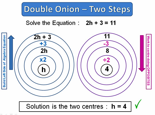 Onion Skin Solving Equations Seven