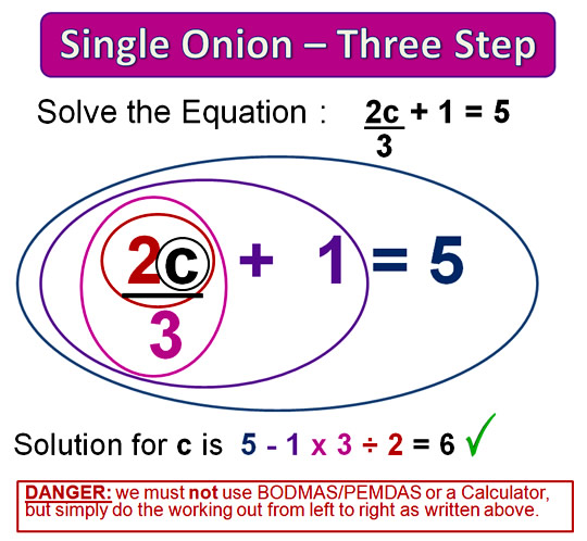 Onion Skin Solving Equations 13