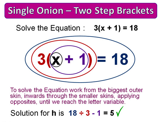 Onion Skin Solving Equations 12