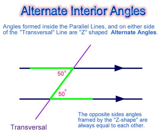 Angles On Parallel Lines on exterior angles worksheet