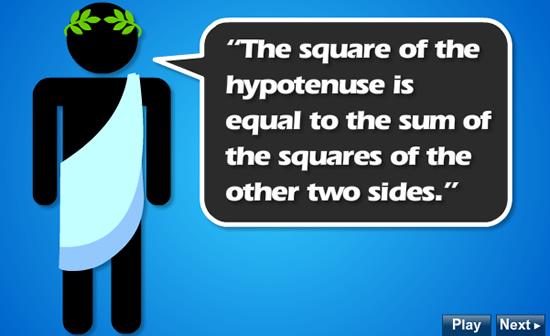 Interactive Pythagoras Lesson