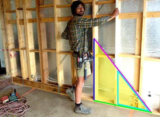 Pythagoras Theorem in Building