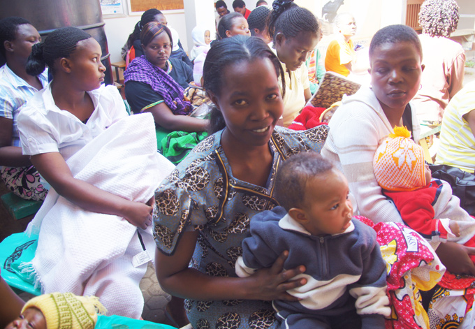 PW Africa Trip Babies at Ruben Medical Centre