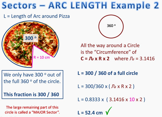 Sector Length and Arc Two