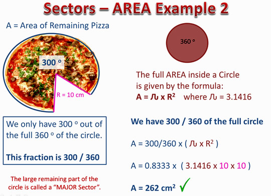 Sector Length and Area Six