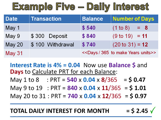 Simple Interest Example 5 Pt 3